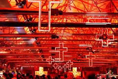 20160617-05-Interior Winter Feast Dark MOFO 2016 (Roger T Wong) Tags: art festival night neon shed decoration australia crucifix tasmania salamanca hobart iv 2016 pw1 canonef70200mmf4lisusm canon70200f4lis metabones princeswharf1 smartadapter rogertwong darkmofo sonya7ii sonyilce7m2 sonyalpha7ii
