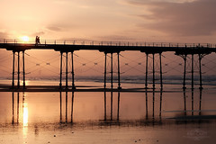 Saltburn (AndyCrutt) Tags: light sunset shadow sea sky people seascape abstract color colour art love nature clouds landscape pier seaside fuji fujifilm saltburn xt10 andycrutt