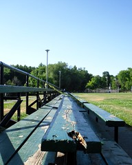 Down the pitch (siong.lewis) Tags: field bench sunny