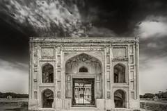 Hiran Minar, Sheikhupura, Pakistan (Fortunes2011. Haunting Nostalgia) Tags: pakistan sky blackandwhite bw heritage monochrome architecture clouds blackwhite gate dome punjab mughal fortunes2011nikon