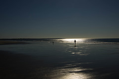 Nothing like the morning:-) (Bud in Wells, Maine) Tags: morning sun reflection beach maine silhouettes newengland kennebunk parsonsbeach