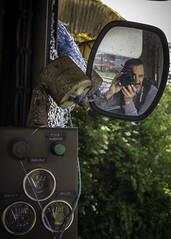 Autoportrait (ur.bes) Tags: old urban selfportrait france reflection abandoned car train truck canon de eos mirror carriage view autoportrait decay exploring rear engine explore reflet urbanexploration 600 locomotive retroviseur miroir exploration ta derelict extrieur chemin salle fer sncf urbain urbex urbaine abandonn bouton vhicule commande 600d levier contrle explorationurbaine