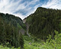 Swamp Creek (Mt Baker Area) (gabe.purpur) Tags: swampcreek northcascades twinlakes winchester creek waterfall mountains sky clouds wilderness mountbakerwilderness mountbakersnoqualimenationalforest