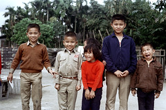 32-184 (ndpa / s. lundeen, archivist) Tags: winter girls people color fall film boys smile smiling kids rural 35mm children locals village nick group smiles taiwan local 1970s 1972 hualien 32 taiwanese eastcoast unidentified dewolf rurallife republicofchina easterncoast easterntaiwan nickdewolf photographbynickdewolf hualiencounty reel32