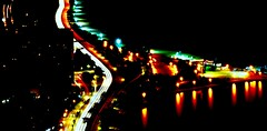 Vivid Color (Julian Boed) Tags: lake chicago color beach night drive nikon skyscrapers vivid shore d7100