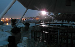 empty beach bar (kexi) Tags: empty bar beachbar evening lights turkey samsung wb690 may 2015 mediterranean instantfave
