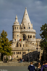 Fisherman's Bastion (Thad Zajdowicz) Tags: fishermansbastion budapest hungary europe building architecture structure sky people travel zajdowicz canon eos 7d dslr digital lightroom availablelight outdoor outside ef24105mmf4lisusm