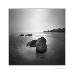 Coverack, Pinhole (Joe Rainbow) Tags: pinhole bw landscape nature zero2000 dreamy mono rocks beach cornwall coverack sand sea fog mist