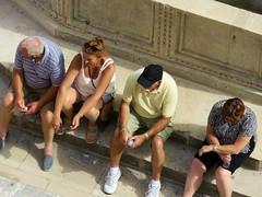 Resting (rockyenta) Tags: tourists resting dubrovnik croatia break fountain stradrum