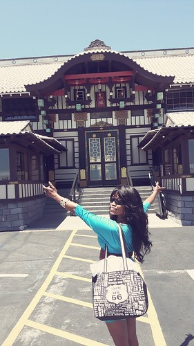 In front of the Yamashiro restaurant