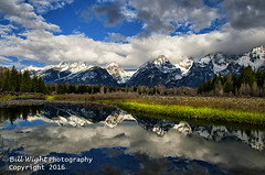 Tetons Snake River Reflection (Bill Wight CA) Tags: billwight copyright2016 unitedstates usa unitedstatesofamerica america american west wyoming grandteton national park grandtetonnationalpark jackson teton northamerica snakeriver cloudy color colors colours countryside day destination mountain river water stream geologic geology geological habitat inspiring landmark landscape scene mountainous natural nature preserve reserve nobody outdoor quiet reflection remote scenery scenes scenic silence sky clouds solitary solitude tranquil travel destinations vastness