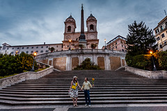 Spanish steps Rome self portrait (leelee_smiles) Tags: morning italy selfportrait rome spanishsteps