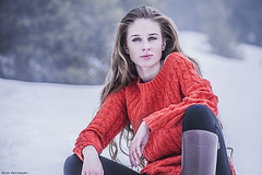 lonely woman (Amickman) Tags: blue winter portrait people woman cold girl beautiful beauty look fashion female person sweater perfect soft pretty solitude alone loneliness adult emotion wind serious outdoor expression air young makeup sensual clean delicious faded blonde attractive getty lonely solitary tender freshness gettyimages passionate expectation