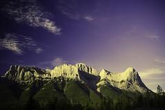 Mushroom Mountains (Ian David Blüm) Tags: sky mountains colour topv111 clouds forest landscape topv555 topv333 topv999 rocky shift alberta topv777 toned