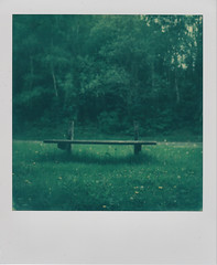 Backless bench (L. McG.-E.) Tags: film polaroid sx70 instant analogue px70 impossibleproject colorprotection