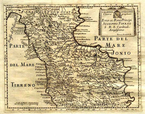 Calabria Citerioris - Committente Principe Josepho Firrao