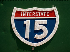 Interstate 15 Shield (Curtis Gregory Perry) Tags: california sign nikon 15 button shield interstate copy reflector barstow d800e