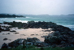Rough coast on road to Brenish, Lewis (1996) (Duncan+Gladys) Tags: uk scotland isleoflewis rossandcromarty