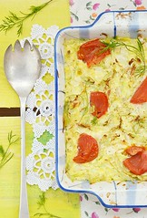 Baked cabbage. (Zoryanchik) Tags: red brussels food hot color green cooking kitchen horizontal closeup cheese dinner lunch cuisine potatoes healthy focus dish bell eating egg plate vegetable casserole fresh gourmet delicious meal heat vegetarian gratin cabbage cauliflower garlic portion diet cooked parsley sprouts herb parmesan baked garnish selective ramekin nutrition cookery prepared appetizing
