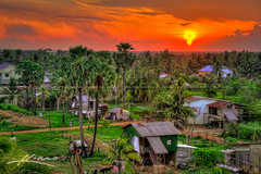 Sunset-Over-Small-Village-in-Battambang-Cambodia (Captain Kimo) Tags: sunset cambodia cambodian khmer village highdynamicrange battambang photomatixpro hdrphotography topazsoftware mygearandme captainkimo