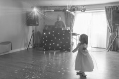 20130531_F0001: Little ballerina on the dance floor (wfxue) Tags: light people blackandwhite bw music girl children disco evening dance dj pattern child floor candid smoke ceiling equipment event laser dots