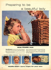 30532956 (The Advertising Archives) Tags: uk cats animals children soap pears 1950s 1958 magazineadvert
