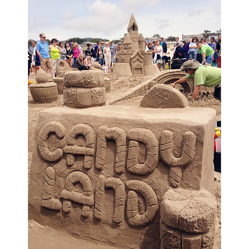 Sandy candy.  #cannonbeach #sandcastle #afterlight