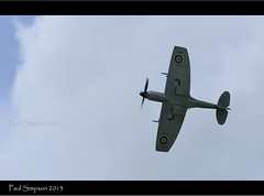 Spitfire at Wickenby Airshow 2013 (Paul Simpson Photography) Tags: uk england airplane fighter wwii aeroplane lincolnshire bbmf clippedwings paulsimpsonphotography wickenbyairshow wingsandwheels2013 spitfirete311mklfxvie