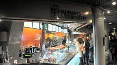 Les Restaurants de la Tour Eiffel, Paris (David McKelvey) Tags: paris france tower restaurant cafe nikon europe eiffel 2013 d5000