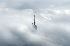 Head in the Clouds I (laverrue) Tags: nyc newyork skyline moody cloudy gothamist oneworldtradecenter