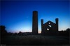 The Dusk Flare (bbusschots) Tags: ireland tower history church cemetery night ruin astrophotography maynooth satelite kildare ptlens localhistory historicbuilding iridiumflare photomatix tonemapped topazdenoise taghadoeroundtower