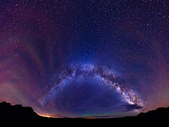 Milky Way Spanning the Great Divide (Matt Payne Photography) Tags: panorama storm night clouds dark stars landscape colorado darkness awesome awe milkyway independencepass mattpayne