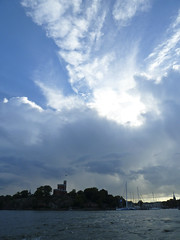Kastellholmen in Stockholm (realdauerbrenner) Tags: city travel summer sky water reisen wasser day cloudy sweden stockholm sommer schweden skandinavien himmel stadt sverige scandinavia sonne vatten stad wolkig kastellholmen 2013