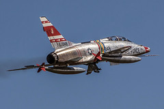 Gleaming F-100F (rsteup) Tags: airplane aircraft jet airshow hun jetfighter airshows f100f thunderovermichiganairshow canoneos60d f100fsupersabre classicjetaircraft deancutshallf100 thunderovermichigan2013 deancuttercutshallsf100fsupersabre