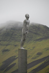 Go Home Naked Lady! (Dick Dangerous) Tags: mountain statue lady naked coast iceland south  vk mrdal