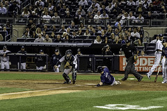 Sliding into home (smbrooks_2000) Tags: newyork lines baseball bronx pitcher yankees mariano rivera newyorkyankees marianorivera tampabayrays marianoriveralastgame august2015 aug2015