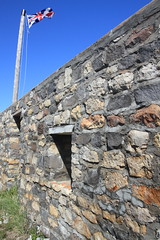 The Union Jack (AmandaMT) Tags: ocean park old sea summer canada stone fort flag north lowlands historic manitoba churchill walls northern nationalparks hudsonsbay subarctic canadiannationalpark churchillnorthernstudiescentre fortprinceofwhales