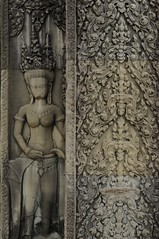 Apsara, Bas relief in Bayon temple, Angkor - Cambodia (Zhenya bakanovaAlex Grabchilev) Tags: old travel sculpture art architecture asian religious temple ancient sandstone asia cambodia khmer traditional details religion culture carving relief tradition hindu artcraft angkorwatt kampuchia architectureart hiduism