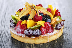 Mixed tropical fruit tart (thomastrevethan) Tags: food canada cakes fruits cake fruit pie crust dessert uncut baking mixed sweet thomas many treats large tasty fresh sugar desserts gourmet delicious whole homemade chef covered bakery pies fancy pastry tropical sweets served flan treat various pastries tart executive bake icingsugar arrangement fruity serving assortment tarts lots indulgence assorted baked serve arranged decadent trevethan