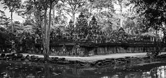 Banteay Srei in Black and White (david.valentine) Tags: travel blackandwhite temple ancient ruins cambodia religion unesco adventure siemreap angkor banteaysrei