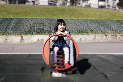 This is My Mercedes-Benz ( aikawake) Tags: playing game cute nature girl smile car sunshine children benz funny child play outdoor littlegirl shinny warmlight topple toddl