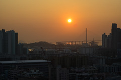 Sunset (Dickson Lam) Tags: street city sunset sky hongkong nikon  d800 2014 24120mmf3556gvr  eventide