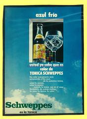"Schweppes. ""Azul frío"". 1973"