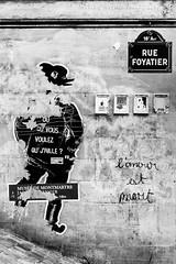 Paris (__Bentom Wyemji__) Tags: blackandwhite bw paris wall frana