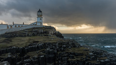 Neist Point Lighthouse, Isle of Skye (d.wilesmith) Tags: sunset lighthouse storm beautiful night landscape nikon moody isleofskye glendale dramatic handheld neist d600 neistpoint vision:sunset=0753 vision:outdoor=099 vision:sky=0974 vision:ocean=0803 vision:clouds=0981