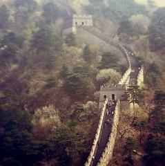 wallees (karolis janulis) Tags: china travel history wall architecture miniature dof great tourists tiltshift