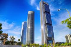 Madrid Towers (RaulHudson1986) Tags: madrid blue sky beautiful skyline canon spain artistic towers bulding 2014 canon6d raulhudson1986