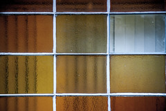 80s panes (joshuapalmeri.com) Tags: brown texture glass yellow grid amber waves stained 1980 1980s glazing