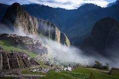 Machu Picchu (baddoguy) Tags: morning mountain peru fog architecture ancient ruins culture images getty machupicchu worldheritage