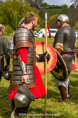 [2014-04-19@15.34.39a] (Untempered Photography) Tags: history costume helmet medieval weapon shield armour reenactment combatant chainmail spear canonef50mmf14 perioddress polearm gambeson poleweapon mailarmour untemperedeye canoneos5dmkiii untemperedeyephotography glastonburymedievalfayre2014